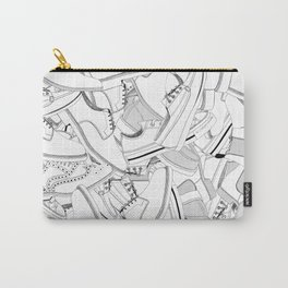 Leather And Laces Carry-All Pouch