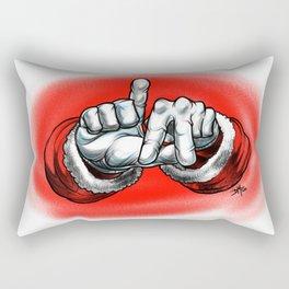 West Coast Santa Rectangular Pillow