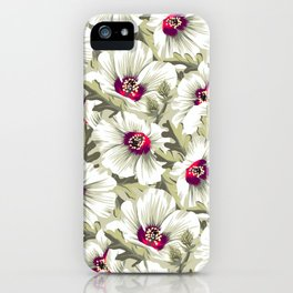 New Zealand Hibiscus Floral Print (Day) iPhone Case
