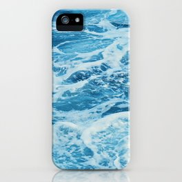 Aqua blue iPhone Case