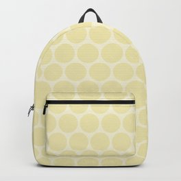 Light yellow polka dots Backpack