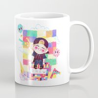 shinee Mugs featuring Downtown Baby SHINee by sophillustration