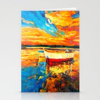 boat Stationery Cards featuring Boat by BOYAN DIMITROV