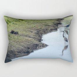 Sharing the River Rectangular Pillow