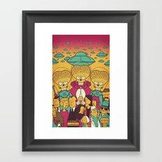 Mars Attacks! Framed Art Print