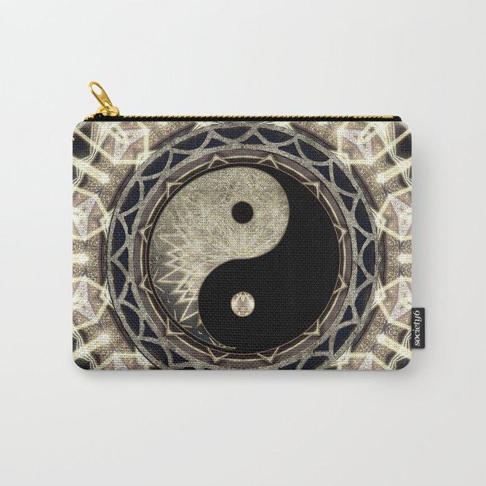 Yin Yang Geometry Mandala V1 Carry-All Pouch