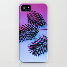 Seapunk Palm Leaves, Palm Leaf, Palm Tree Lover, 80s vibes iPhone Case