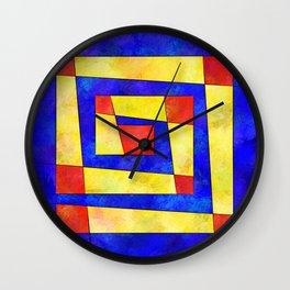 Semirenium - simple coloured cube world Wall Clock