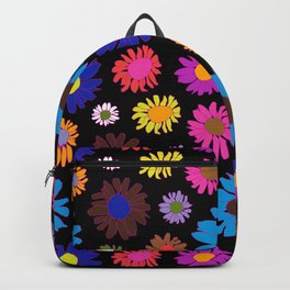 60's Daisy Crazy in Black Backpack