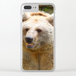 Syrian Brown Bear Clear iPhone Case