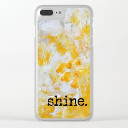 Sunlight Dancing Clear iPhone Case