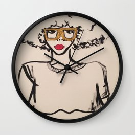 Natural Curls Wall Clock