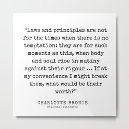 25   | Charlotte Brontë Quotes | 200129 Metal Print