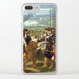 "Diego Velázquez ""The Surrender of Breda"" or ""The Lances"" Clear iPhone Case"