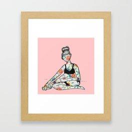 Tattoos in Bloom Framed Art Print