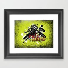 ride hard - BMX Framed Art Print