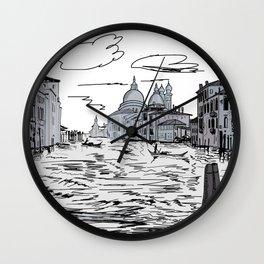 Venice . city on the water . Art Wall Clock