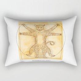 Leopardo da Vinci Rectangular Pillow