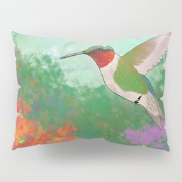 Ruby Throated Hummingbird Pillow Sham