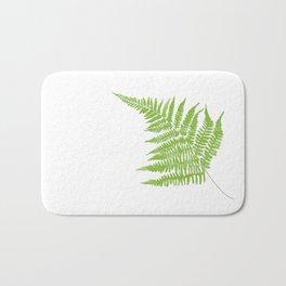 Lady Fern Illustration Botanical Print Bath Mat