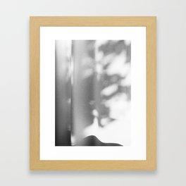 Shadows in balkony Framed Art Print