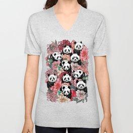 Because Panda Unisex V-Neck