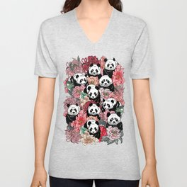 Because Panda Unisex V-Neck