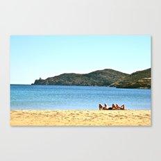 Beach Goers Paradise Remix Canvas Print