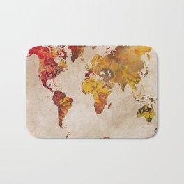 world map 24 Bath Mat