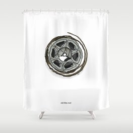Old Film Reel Shower Curtain