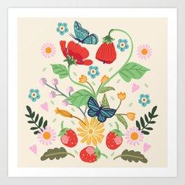 Wild Strawberries Art Print