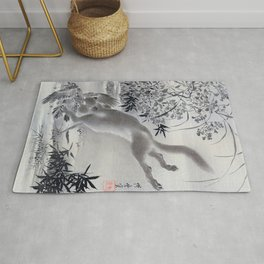 Fox Catching Bird - Digital Remastered Edition Rug