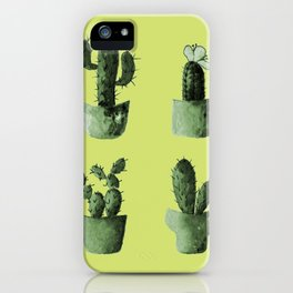 One cactus six cacti in green iPhone Case