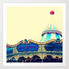 San Francisco Carousel Pier 39 Art Print