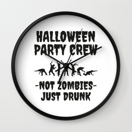 Halloween Party Crew Wall Clock