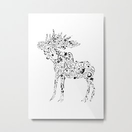 Many shapes of the Moose Metal Print