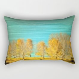 Ohrid Lake blue Rectangular Pillow