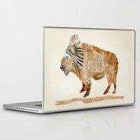 buffalo Laptop & iPad Skins featuring buffalo by bri.buckley