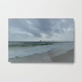 Stormy Sea Day  Metal Print