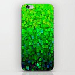 Glitter Sparkles Green iPhone Skin
