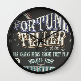 Mystical Fortune Teller poster Wall Clock