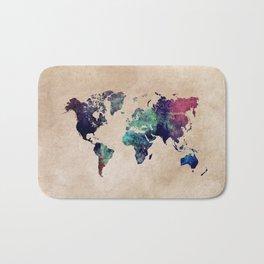 Cold World Map Bath Mat