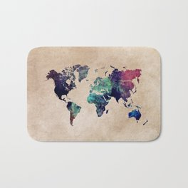 Cold World Map #map #worldmap Bath Mat