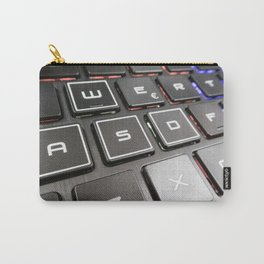 Close-up detail of a QWERTY keyboard of a laptop PC Carry-All Pouch