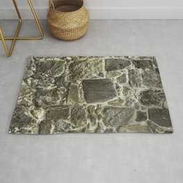 Old Stone Wall rustic decor Rug