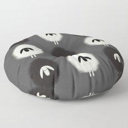 Sheep black & white Floor Pillow