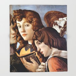 Sandro Botticelli - Angels 2. detail Throw Blanket