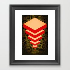 Spacially Separated Squares Framed Art Print