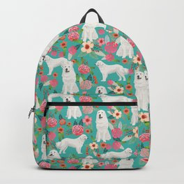 Great Pyrenees florals pattern dog breed must have dog lover gifts Backpack