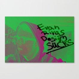 Evan Rivas Design Sucks Canvas Print